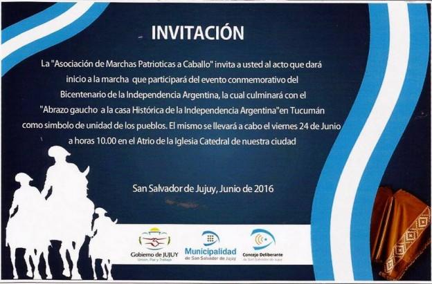 """""""MARCHA A CABALLO HACIA LA PROVINCIA DE TUCUMÁN"""""""