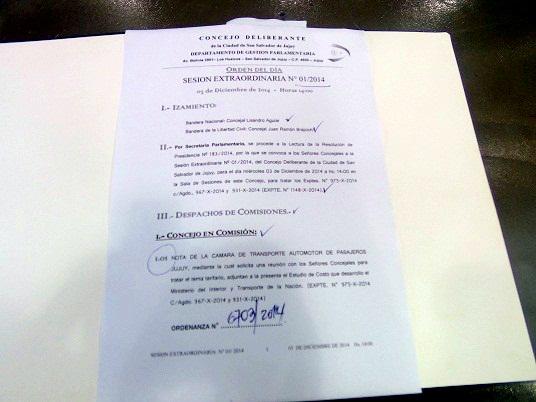PRIMERA SESIÓN EXTRAORDINARIA 2014 EN EL CONCEJO DELIBERANTE
