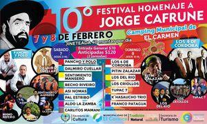 1-10º FESTIVAL HOMENAJE A JORGE CAFRUNE (7y 8 de Febrero, El Carmen – Jujuy)