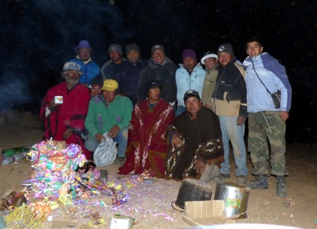 1-La banda de Sikuris Municipal celebró la Pachamama en el Santuario del Abra de Punta Corral