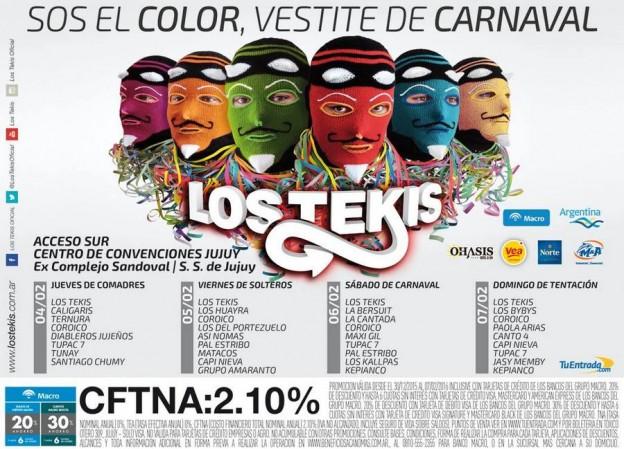 1-Los Tekis y sus noches de Carnaval