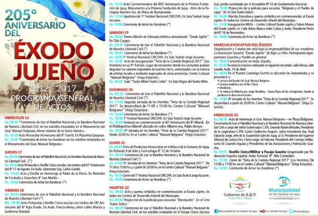 205 ANIVERSARIO DEL EXODO JUJEÑO