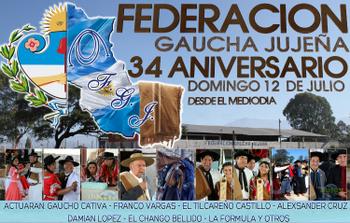 34 ANIVERSARIO FEDERACION GAUCHA JUJEÑA
