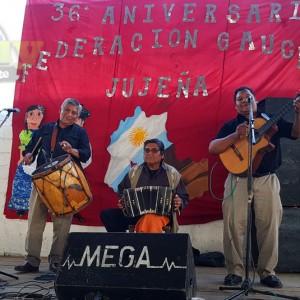 JORGE BUSTAMANTE Y DAMIAN LOPEZ - 36 ANIVERSARIO DE LA FEDERACION GAUCHA JUJEÑA