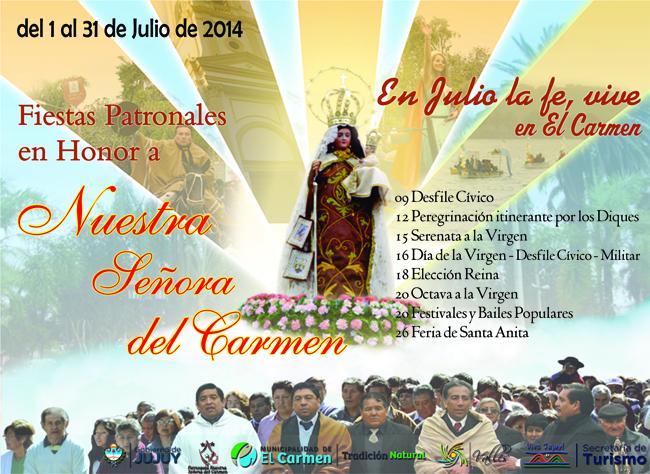 AFICHE FIESTAS PATRONALES en el Carmen