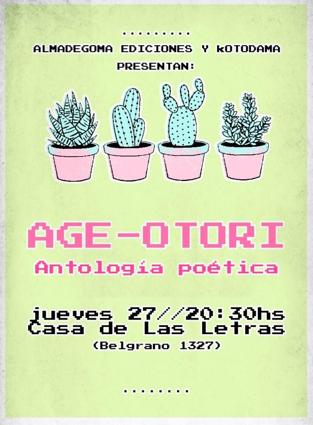 AGE OTORI EN CASA DE LAS LETRAS 2017