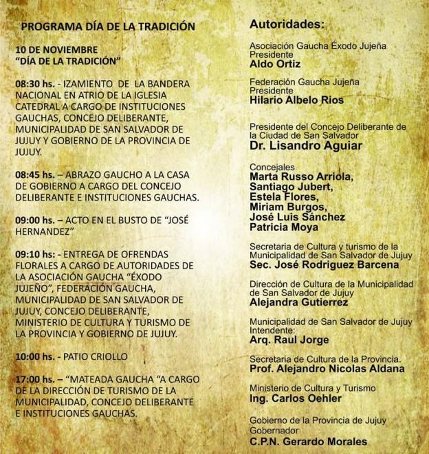 Actos para conmemorar el Día de la Tradición2