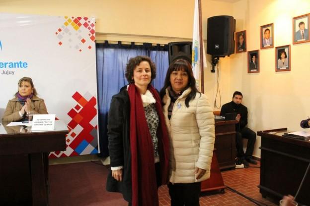 Ari Tabera y Estela Flores