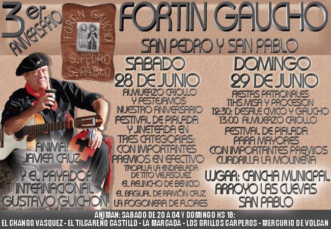 3er Aniversario Fortin Gaucho San Pedro y San Pablo