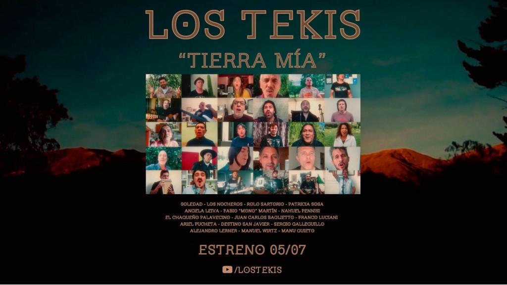 """Los Tekis junto a 16 grandes artistas le cantan a la """"Tierra Mí"""