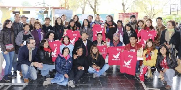 Concejales Cult. Pcial y Municipal Ruiz y Muralistas Internacionales-y-nacionales