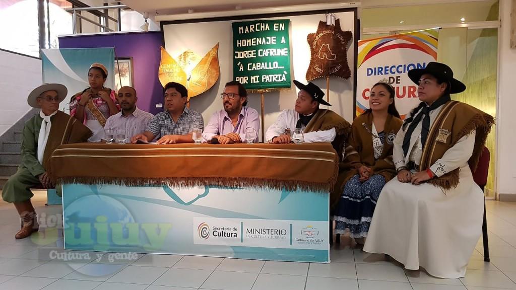 Conferencia de Prensa -Asocaicion G E Jujeño y Munciplaidad de El Carmen - Marcha evocativa