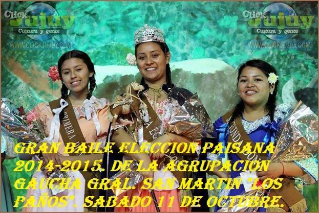 Coronación de paisana de la Agrup G Gral San Martin de los Paños