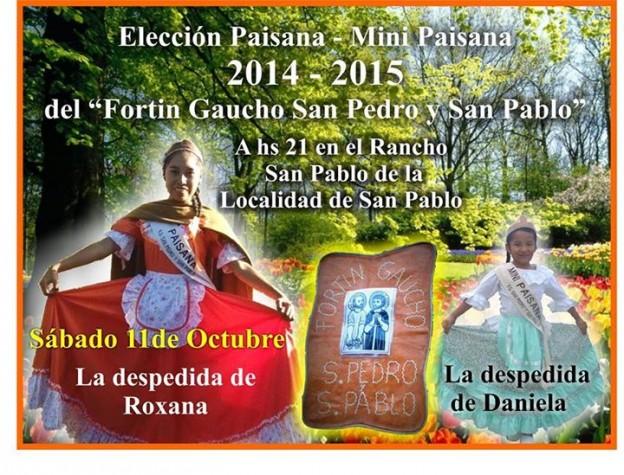 Coronación de paisana del F G San Pedro y San Pablo