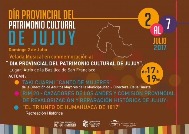 DIA PROVINCIAL DEL PATRIMONIO Domingo 2 de julio 2017