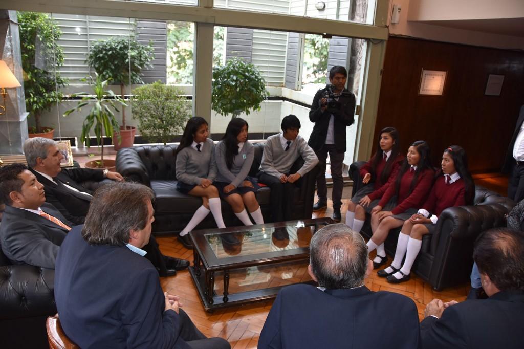Estudiantes de El Aguilar fueron recibidos por el Vicegobernador de Jujuy