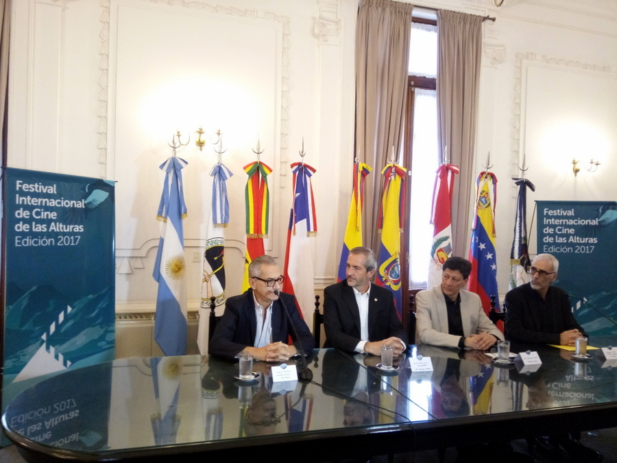 De izq. a dcha. - Daniel Desaloms, Rodríguez Bárcena, Alejandro Aldana, Marcelo Pont