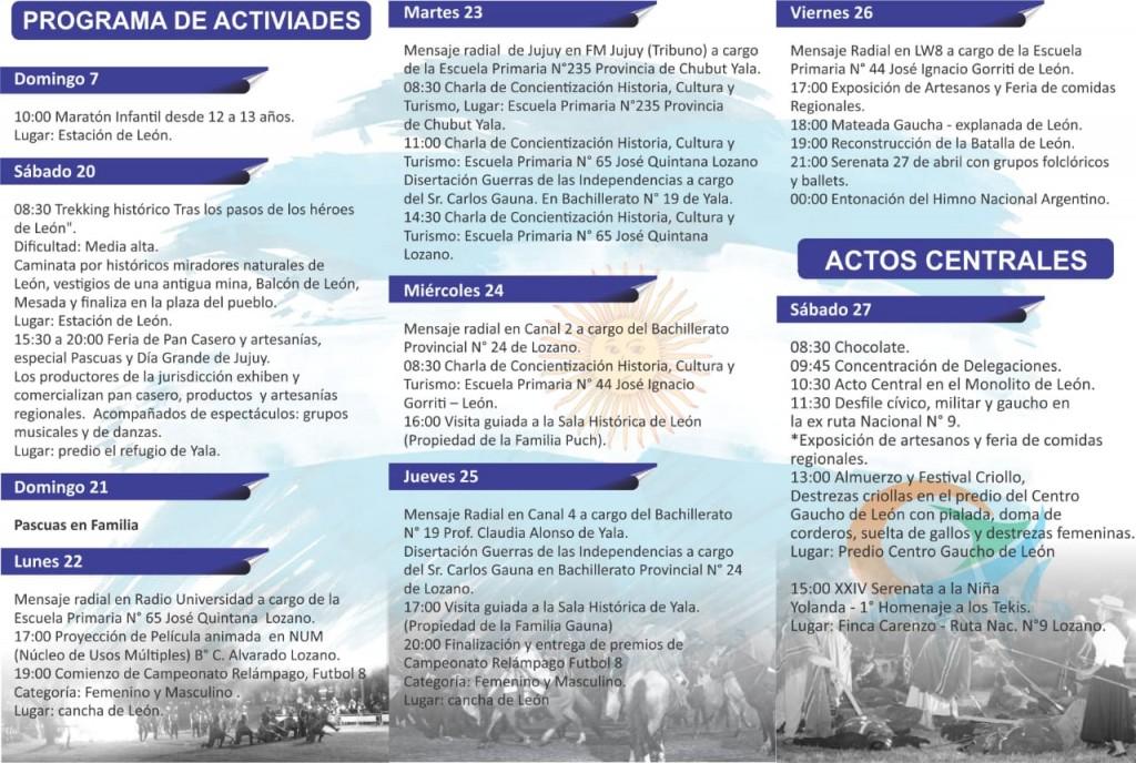 Dia Grande de Jujuy - Programa de actividades (1)