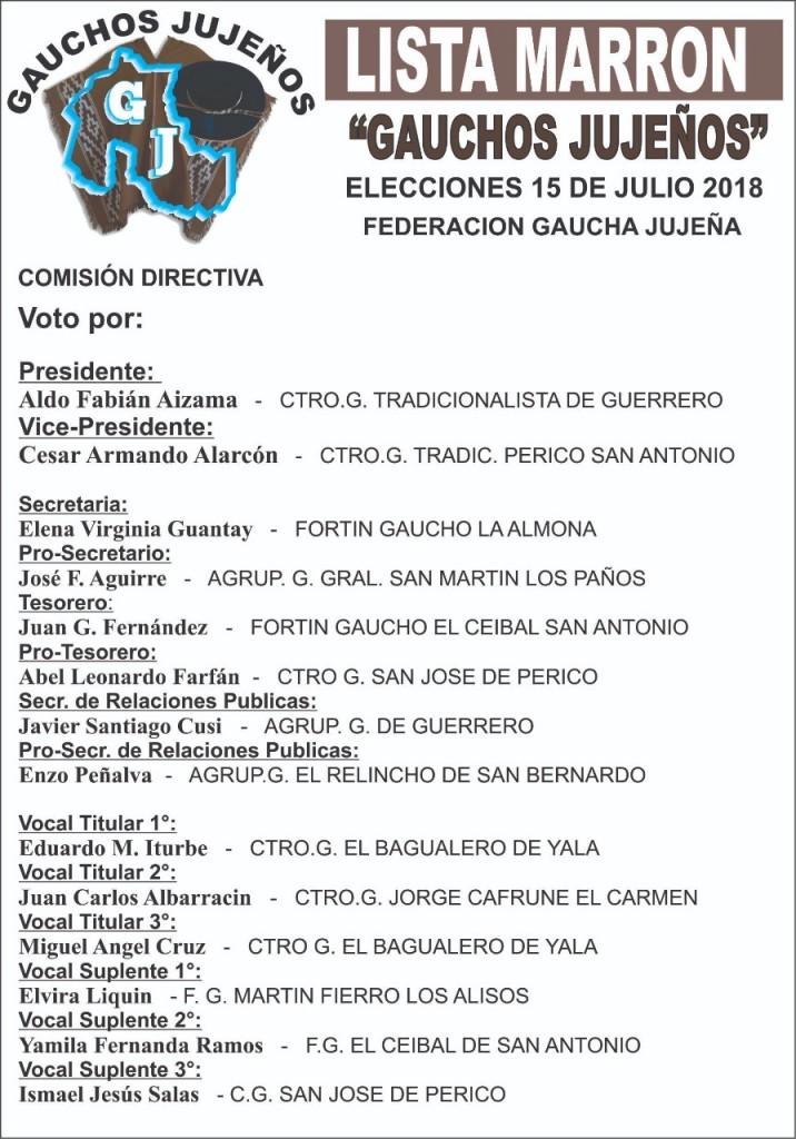 ELECCIONES EN LA FEDERACION GAUCHA JUJEÑA (1)