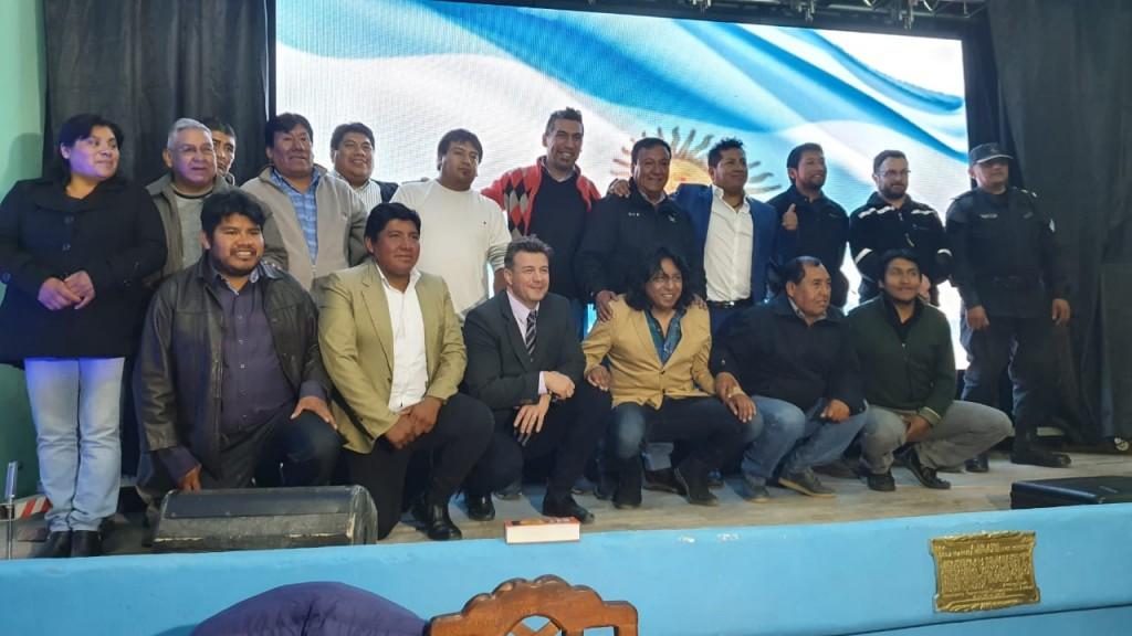 El Intendente reelecto por el Municipio de El Aguilar tomó juramento por el período 2019-2023