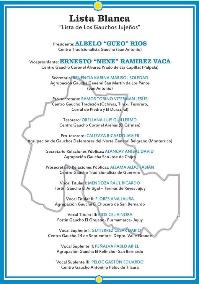 Elecciones en la Federación Gaucha Jujeña 4