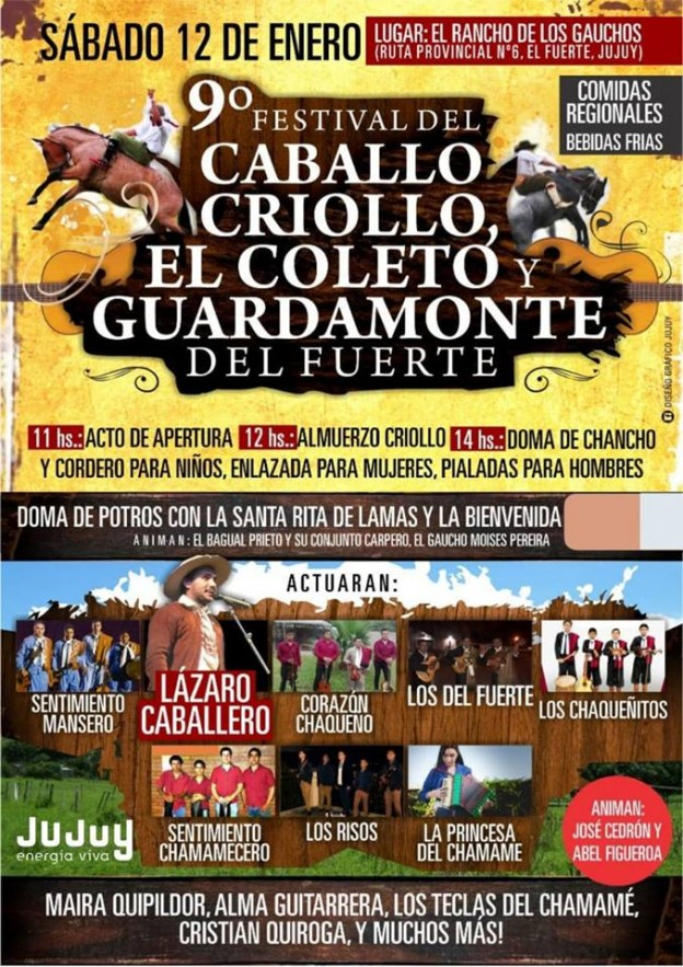 FESTIVAL DEL CABALLO CRIOLLO, EL COLETO Y GUARDAMONTE DEL FUERTE