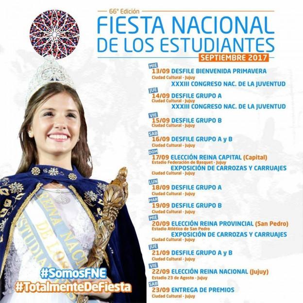 FIESTA NACIONAL DE LOS ESTUDIANTES 2017