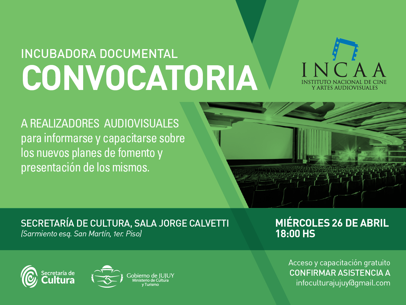 INCAA en Jujuy Incubadora documental