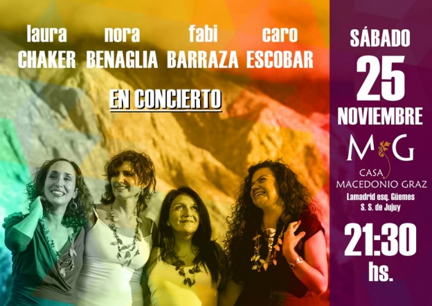 Laura Chaker, Nora Benaglia, Fabiana Barraza y Caro Escoba