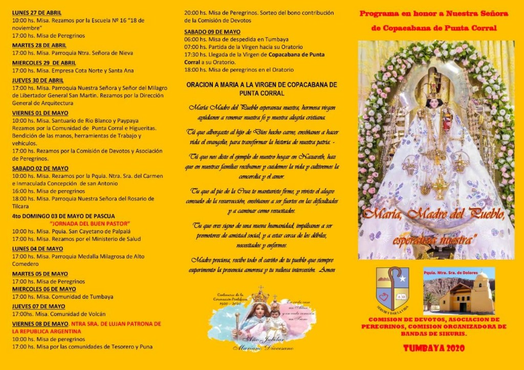PROGRAMA DE LA FIESTA PATRONAL EN HONOR A LA VIRGEN DE COPACABANA DE PUNTA CORRAL (2)