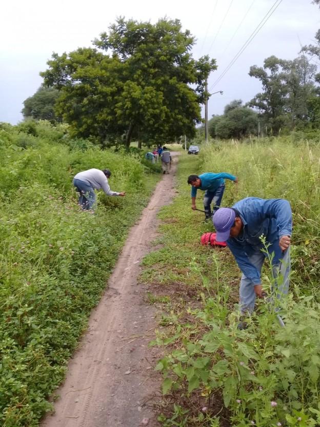 Realizan tareas de mantenimiento y limpieza en La Esperanza