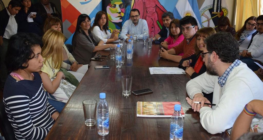 Reunión con alumnos de Martín Pescador