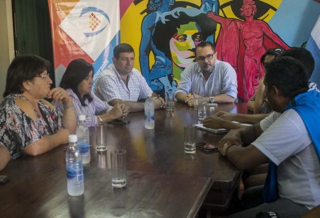 Reunión con autoridades del CPV Barrio Los Huaicos
