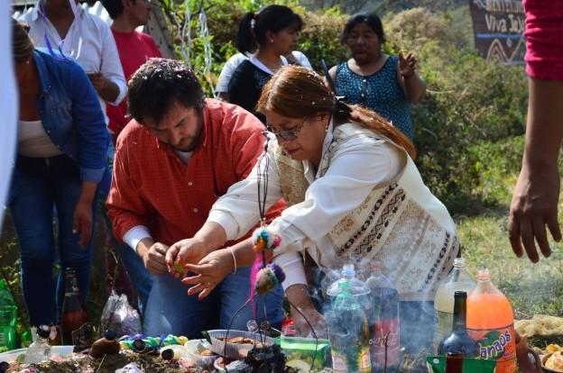 Se realizó una edición más del homenaje a la Madre Tierra en el abra de Santa Laura, límite que une a la Provincia de Jujuy y la Provincia de Salta 2