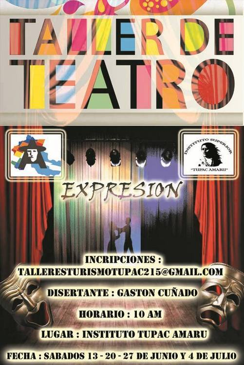 TALLER DE TEATRO EN EL INSTITUTO SUPERIOR TUPAC AMARU