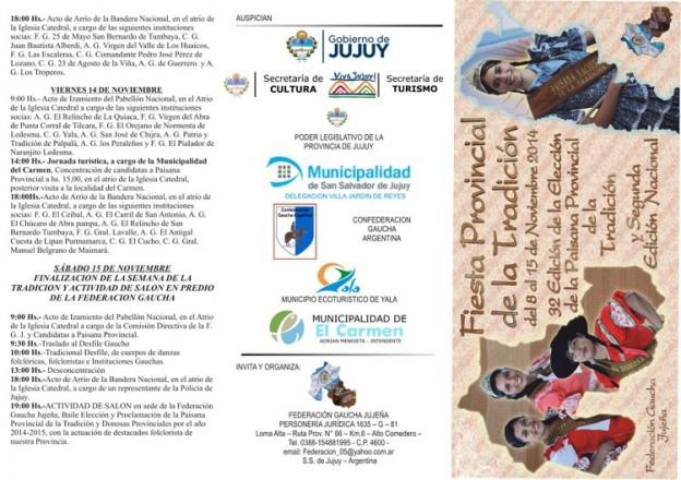 TRIFOLIO FINAL FIESTA PCIAL DE LA TRADICION 2014 – EN A CUATRO – 2014 -