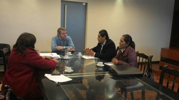 Vargas Duran con el Ministro de Infraestructura