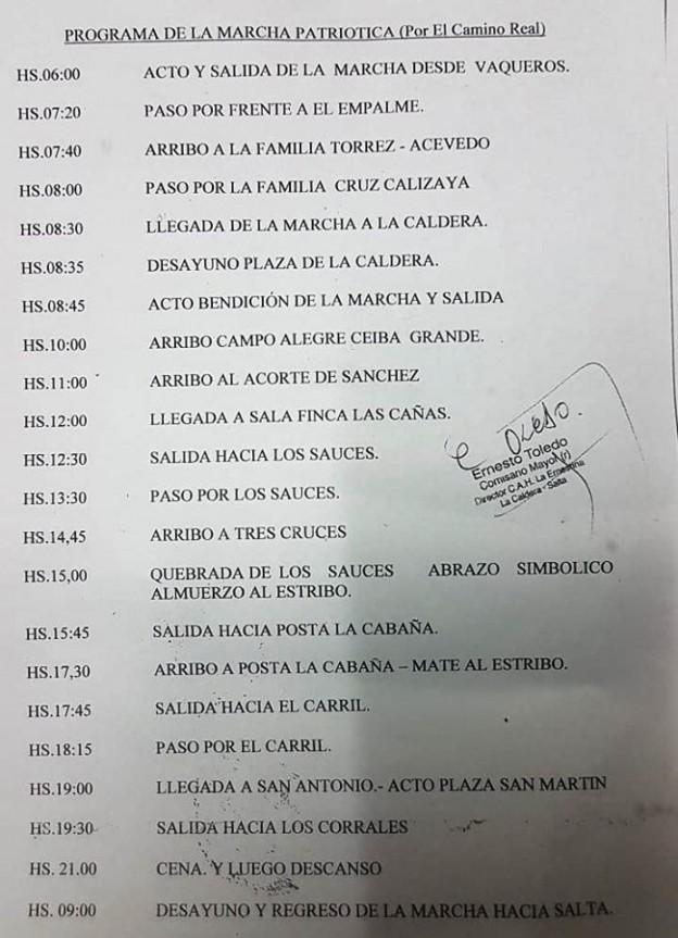 XIV MARCHA PATRIOTICA POR EL CAMINO REAL (1)