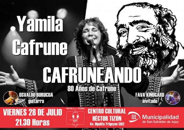 Yamila Cafrune llega a San Salador de Jujuy