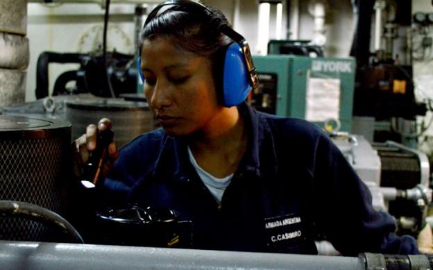 cabo segundo maquinista Carolina Casimiro