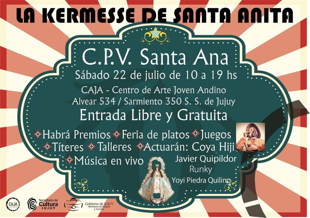 kermesse de santa anita en CAJA sabado 22 de julio