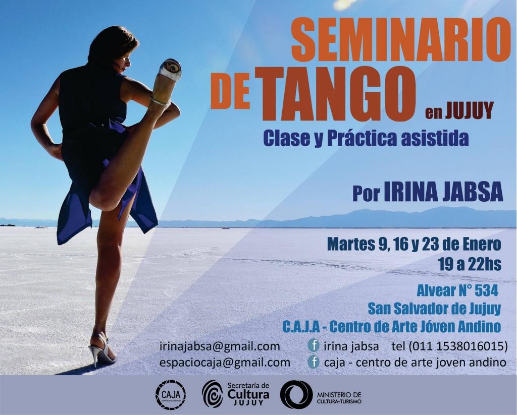 seminario de tango enero 2018 en CAJA