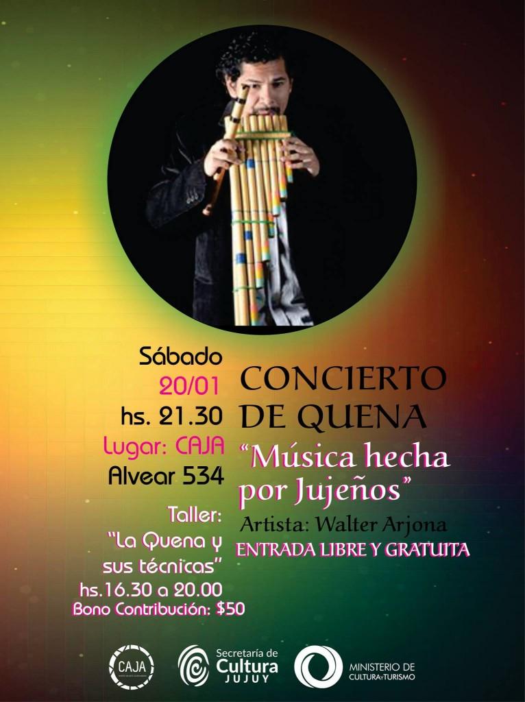taller de quena y concierto en CAJA